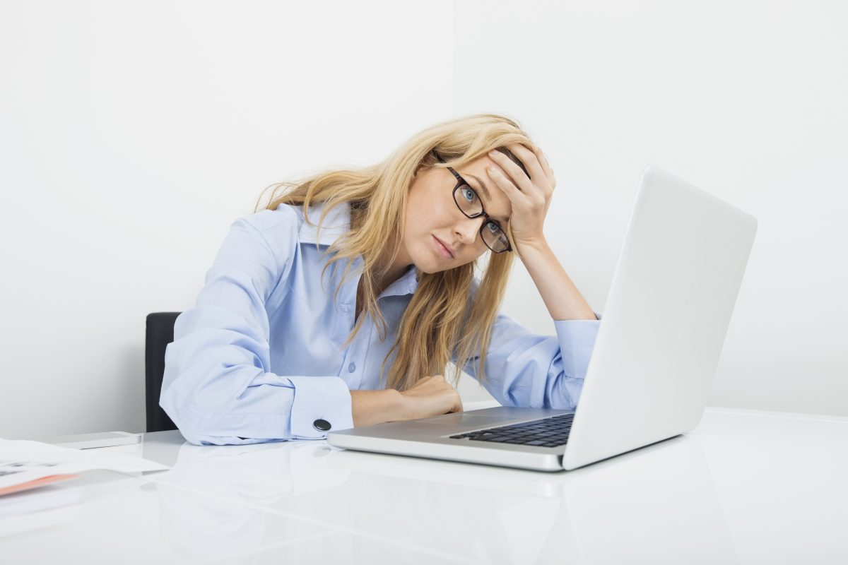 bussiness woman frustrated with white hat link building